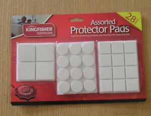 Furniture Protector Brown White Foam Sticky Back Adhesive Pads Assorted Sizes