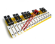 Professional CHROMATIC GLOCKENSPIEL Xylophone with Beaters & Metal Keys - Yellow