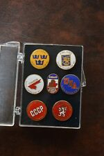 1987 Canada Cup Official Pin Set Won by Canada: