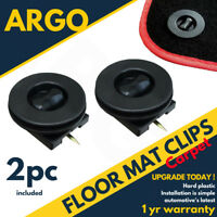 Car Mat Carpet Clips Fixing Grips Clamps Floor Holders Sleeves Premium Black X 2