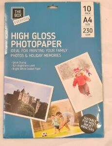 A4 High Gloss Photo Paper Quick Drying Inkjet Printers Glossy 230gsm 10 Sheets