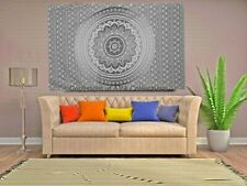 Black Cotton Ombre Mandala WALL HANGING Tapestry Bohemian ROOM DECOR Bedspread
