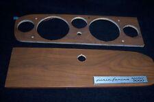 OE Fiat 124 Spider 2000 Dashboard Instrument Cluster & GLOVE BOX  Wood Panel Set