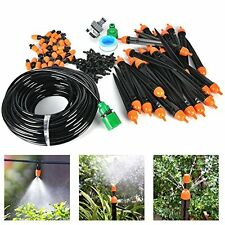 Garden Watering System Equipment Drip Irrigation Kit 82 Ft Pipe lawn Sprinkler