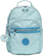 New KIPLING seoul go small backpack fresh teal silver zip closure nylon bag