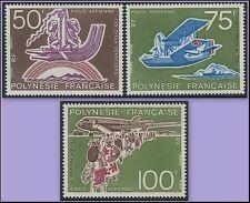 POLYNESIE PA N°89/91** Aviation à Tahiti TB, 1974 French Polynesia MNH