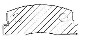 Bendix D223 Disc Brake Pad Front