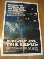 Night of the Lepus Orig, 1sh Movie Poster '72 (sci-fi) horror thriller