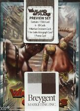 WARLORD OF MARS PREVIEW SET SEALED TRADING CARDS WITH JOE JUSKO AUTOGRAPH
