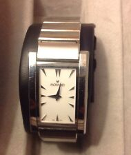 Womens Movado Sapphire Crystal Swiss Watch Stainless Steel Bracelet