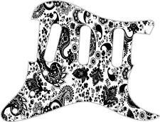 Stratocaster pickguard Custom Fender SSS 11 Fori per Chitarra Pick Guard Paisley Nero