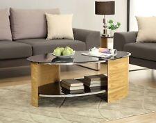 Oak Modern Oval Coffee Tables