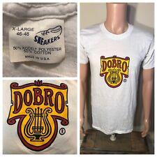 Vintage Sneaker Brand Dobro Guitars t-shirt Single stitch Usa 50/50 rare Gibson