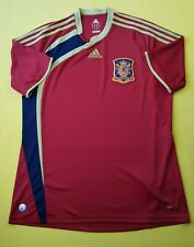 Spain soccer jersey large 2009 2010 home shirt football Adidas ig93