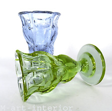 Art Déco 2 kleine Kristall Vasen H. Hussmann ° Alexandrit Glas Moser Karlsbad
