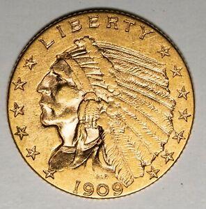 1909 $2.50 Indian Gold Quarter Eagle Item#P13966