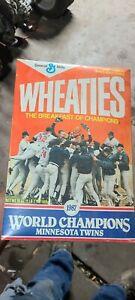 Wheaties Box 1987 Minnesota Twins World Champions SEALED NEVER OPENED
