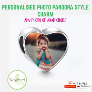 Photo Charm Pandora Heart Shape Mothers Anniversary Birthday Valentines Day Gift