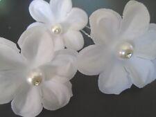 3 épingles à cheveux  fleurs perle strass mariée.accessoire  Mariage soirées.