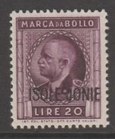 Italy Ionian Islands Occupation fiscal Revenue stamp 8-9-20- mnh gum