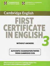 CAMBRIDGE ENGLISH _ FIRST CERTIFICATE IN ENGLISH 3 ___ BRAND NEW ___ UK FREEPOST
