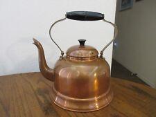 Vintage Copper Tea Kettle Black Bakelite Handle Made In Portugal