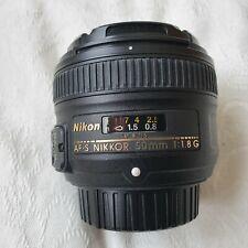 Nikon AF-S NIKKOR 50mm f/1.8G Lens - No marks and fully operational
