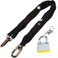 10mm 3ft Steel Square Security Motorbike Motorcycle Chain Lock Oxford & Padlock
