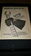 Ufo Mechanix Rare Original U.K. Promo Poster Ad Framed!
