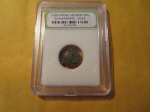 Slabbed Constantine The Great Era Roman Empire Coin, c. 330 AD #189