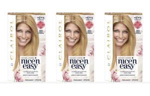 3 Pack Clairol Nice 'N Easy New&Improved Color Formula 8G Medium Golden Blonde
