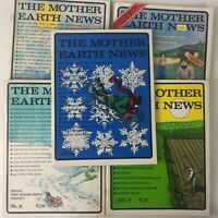 The Mother Earth News Lot of 5 Magazines Good Condition Used