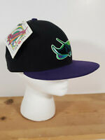 VTG Tampa Bay Devil Rays New Era Fitted 5950 Diamond Collection Hat w Tag Purple