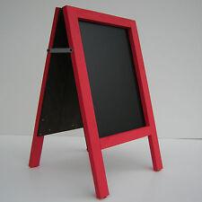 CHALKBOARD-PAVEMENT BOARD-SANDWICH-DISPLAY-BLACKBOARD - 80cm x 40cm RED 5KGS