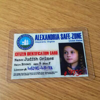 The Walking Dead ID Badge-Alexandria Judith Grimes cosplay costume prop
