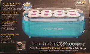"CONAIR Infiniti Pro Instant Heat Tourmaline Ceramic Flocked 2"" Roller Setter"
