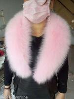 Brand  Pink Women Fox Fur Collar Detachable Down Jacket Fur Scarf Wrap Shawl