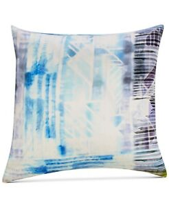 "Sunham Dessi 100% Silk 20"" x 20"" Geometric Decorative Pillow - Blue Multicolor"