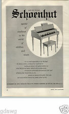 1956 PAPER AD Schoenhut Toy Play Piano Pianos 200 Fifth Ave New York