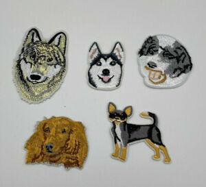 dog head iron on badges/ patch heat transfer DIY cloth bagde
