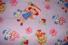 Flannelette Front Towelling Strawberry Shortcake Lilac Burp Cloth Handmade