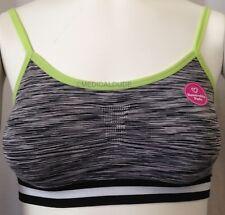 Jenni By Jennifer Moore Seamless Bralette Size Medium Black Green White NWT