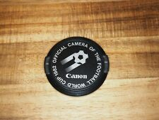 "Canon Objektivdeckel (lens cap) ""Official Camera of the Football World Cup 1982"""