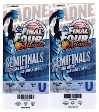 2 2013 NCAA Final Four Semifinals Game Full Tickets Louisville Michigan