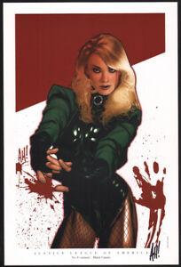 Adam Hughes SIGNED Women of the DC Universe Portfolio Art Print Black Canary JLA