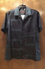 Robert Graham Cotton Button Front Short Sleeve Shirt Sz L EUC!!
