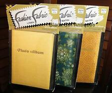 "Lot of Three Vintage Original ""Fashion Fabric"" Photo Albums New/Old Stock"