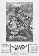 LIFEBUOY SOAP -  Antique Edwardian Advert 1904