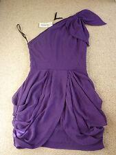 BNWT TNFC London One Shoulder Chiffon Purple Mini Party Dress - size M