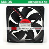 1 PCS   SUNON  Fan  KD2406PHB2  DC 24V 1.28W 60*60*15MM 2 Wire
